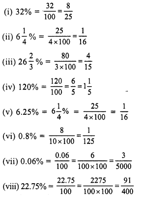 RS Aggarwal Class 7 Solutions Chapter 10 Percentage Ex 10A 3