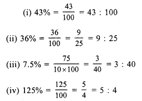 RS Aggarwal Class 7 Solutions Chapter 10 Percentage Ex 10A 4