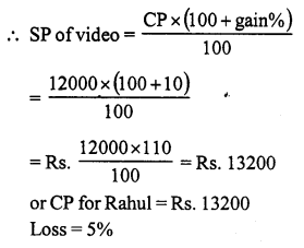 RS Aggarwal Class 7 Solutions Chapter 11 Profit and Loss Ex 11A 14