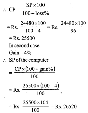 RS Aggarwal Class 7 Solutions Chapter 11 Profit and Loss Ex 11A 20