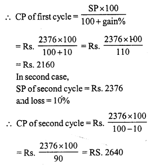 RS Aggarwal Class 7 Solutions Chapter 11 Profit and Loss Ex 11A 21