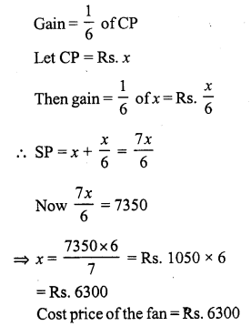 RS Aggarwal Class 7 Solutions Chapter 11 Profit and Loss Ex 11A 23