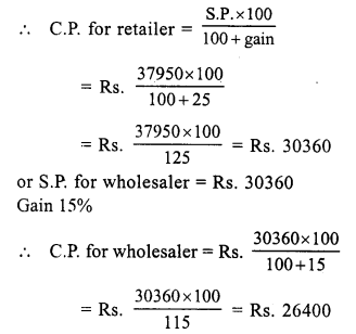 RS Aggarwal Class 7 Solutions Chapter 11 Profit and Loss Ex 11A 25