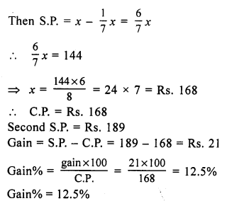 RS Aggarwal Class 7 Solutions Chapter 11 Profit and Loss Ex 11B 5