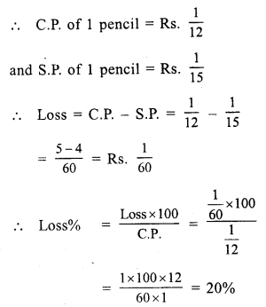 RS Aggarwal Class 7 Solutions Chapter 11 Profit and Loss Ex 11B 7