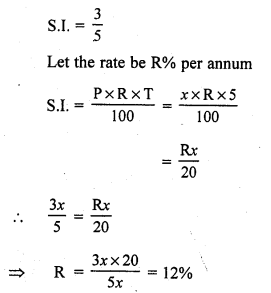 RS Aggarwal Class 7 Solutions Chapter 12 Simple Interest CCE Test Paper 11
