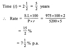 RS Aggarwal Class 7 Solutions Chapter 12 Simple Interest Ex 12A 10