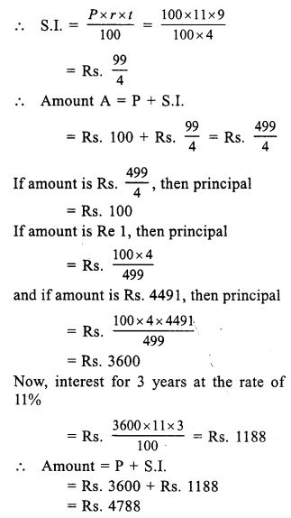 RS Aggarwal Class 7 Solutions Chapter 12 Simple Interest Ex 12A 16