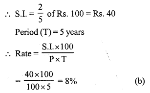 RS Aggarwal Class 7 Solutions Chapter 12 Simple Interest Ex 12B 8