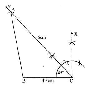 RS Aggarwal Class 7 Solutions Chapter 17 Constructions Ex 17B 6