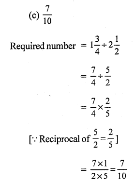 RS Aggarwal Class 7 Solutions Chapter 2 Fractions CCE Test Paper 15