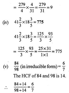 RS Aggarwal Class 7 Solutions Chapter 2 Fractions CCE Test Paper 18