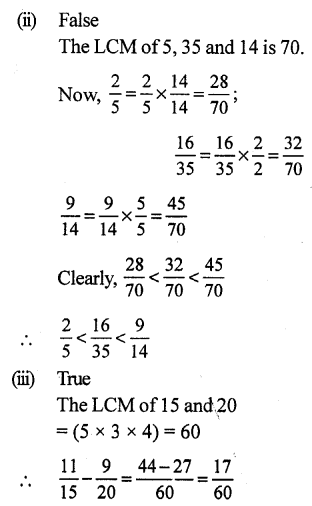 RS Aggarwal Class 7 Solutions Chapter 2 Fractions CCE Test Paper 19