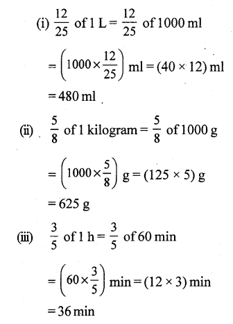 RS Aggarwal Class 7 Solutions Chapter 2 Fractions CCE Test Paper 3