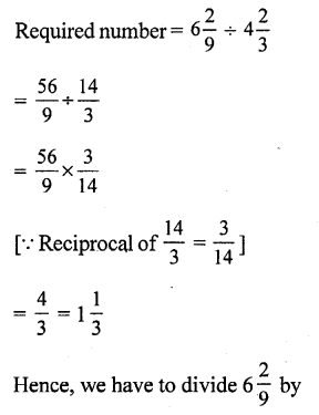 RS Aggarwal Class 7 Solutions Chapter 2 Fractions CCE Test Paper 9