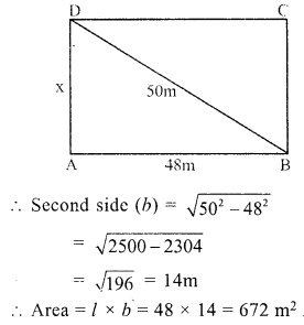 RS Aggarwal Class 7 Solutions Chapter 20 Mensuration Ex 20A 2