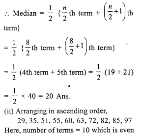 RS Aggarwal Class 7 Solutions Chapter 21 Collection and Organisation of Data Ex 21B 1