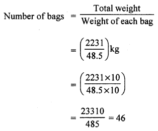 RS Aggarwal Class 7 Solutions Chapter 3 Decimals CCE Test Paper 1