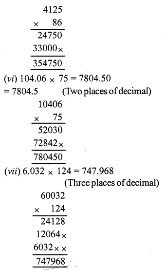 RS Aggarwal Class 7 Solutions Chapter 3 Decimals Ex 3C 2