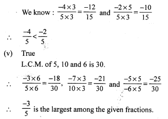 RS Aggarwal Class 7 Solutions Chapter 4 Rational Numbers CCE Test Paper 20