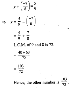 RS Aggarwal Class 7 Solutions Chapter 4 Rational Numbers CCE Test Paper 5