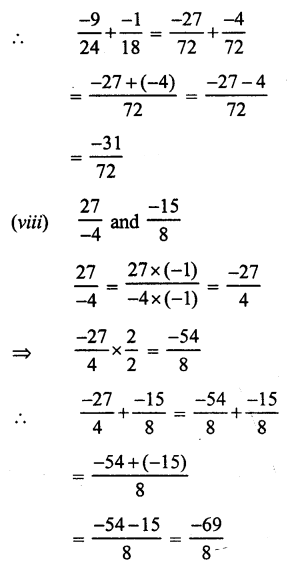 RS Aggarwal Class 7 Solutions Chapter 4 Rational Numbers Ex 4C 9
