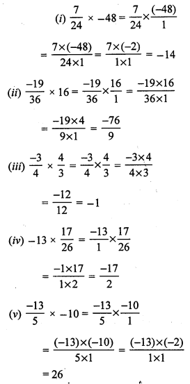 RS Aggarwal Class 7 Solutions Chapter 4 Rational Numbers Ex 4E 7