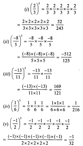 RS Aggarwal Class 7 Solutions Chapter 5 Exponents Ex 5A 4