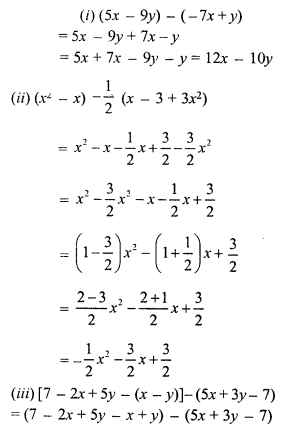 RS Aggarwal Class 7 Solutions Chapter 6 Algebraic Expressions Ex 6A 10