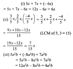 RS Aggarwal Class 7 Solutions Chapter 6 Algebraic Expressions Ex 6A 1