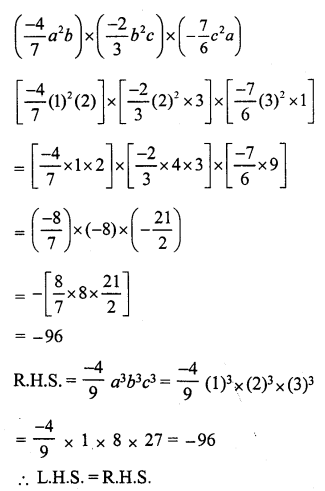 RS Aggarwal Class 7 Solutions Chapter 6 Algebraic Expressions Ex 6B 30