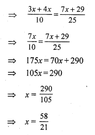 RS Aggarwal Class 7 Solutions Chapter 7 Linear Equations in One Variable CCE Test Paper 3