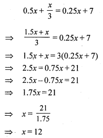 RS Aggarwal Class 7 Solutions Chapter 7 Linear Equations in One Variable CCE Test Paper 4
