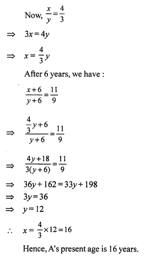 RS Aggarwal Class 7 Solutions Chapter 7 Linear Equations in One Variable CCE Test Paper 9