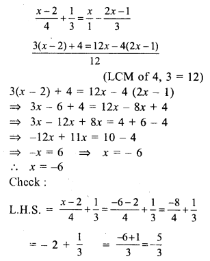 RS Aggarwal Class 7 Solutions Chapter 7 Linear Equations in One Variable Ex 7A 16