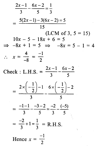 RS Aggarwal Class 7 Solutions Chapter 7 Linear Equations in One Variable Ex 7A 18