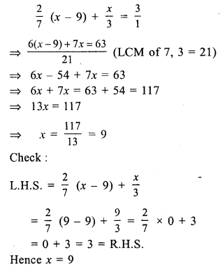 RS Aggarwal Class 7 Solutions Chapter 7 Linear Equations in One Variable Ex 7A 21