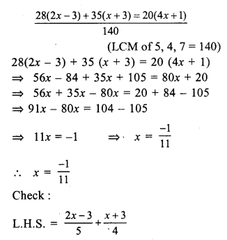 RS Aggarwal Class 7 Solutions Chapter 7 Linear Equations in One Variable Ex 7A 23