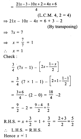RS Aggarwal Class 7 Solutions Chapter 7 Linear Equations in One Variable Ex 7A 26