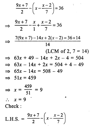RS Aggarwal Class 7 Solutions Chapter 7 Linear Equations in One Variable Ex 7A 29