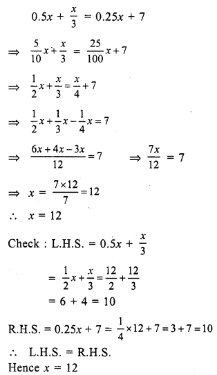 RS Aggarwal Class 7 Solutions Chapter 7 Linear Equations in One Variable Ex 7A 31