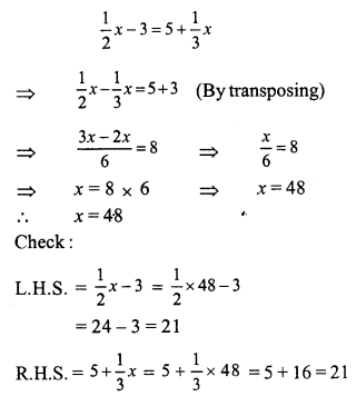 RS Aggarwal Class 7 Solutions Chapter 7 Linear Equations in One Variable Ex 7A 6