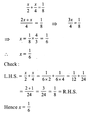 RS Aggarwal Class 7 Solutions Chapter 7 Linear Equations in One Variable Ex 7A 7
