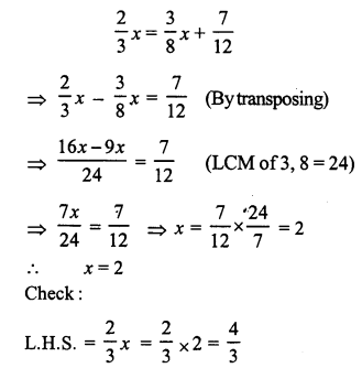 RS Aggarwal Class 7 Solutions Chapter 7 Linear Equations in One Variable Ex 7A 9