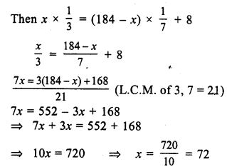RS Aggarwal Class 7 Solutions Chapter 7 Linear Equations in One Variable Ex 7B 10
