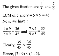 RS Aggarwal Class 7 Solutions Chapter 8 Ratio and Proportion CCE Test Paper 1