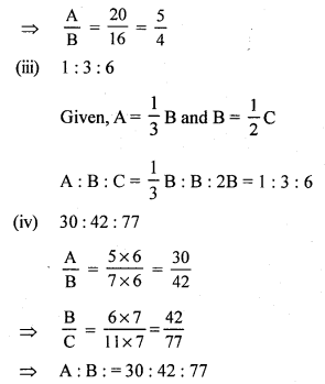 RS Aggarwal Class 7 Solutions Chapter 8 Ratio and Proportion CCE Test Paper 5