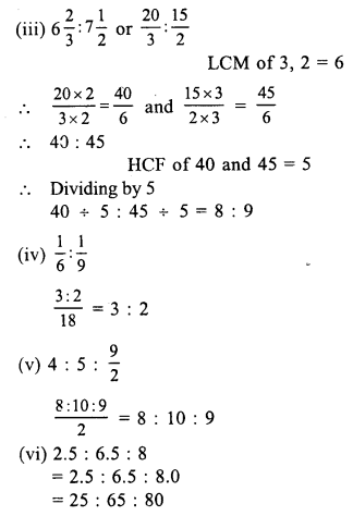 RS Aggarwal Class 7 Solutions Chapter 8 Ratio and Proportion Ex 8A 1