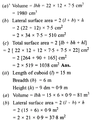 RS Aggarwal Class 8 Solutions Chapter 20 Volume and Surface Area of Solids Ex 20A 1.2