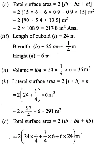 RS Aggarwal Class 8 Solutions Chapter 20 Volume and Surface Area of Solids Ex 20A 1.3